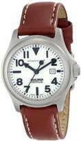 Momentum Women's 1M-SP01W3 Atlas White Dial Brown Nautica Leather Watch