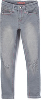 KensieGirl Gray Heart-Accent Denim Jeans - Girls
