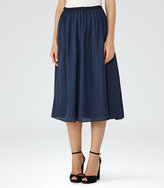 Reiss Alissa Gathered Midi Skirt