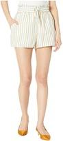 BCBGeneration Tie Front Paper Bag Waist Shorts TEC7210335 (Multi) Women's Shorts