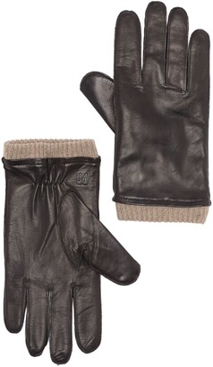 Bruno Magli Cashmere Lined Leather Gloves