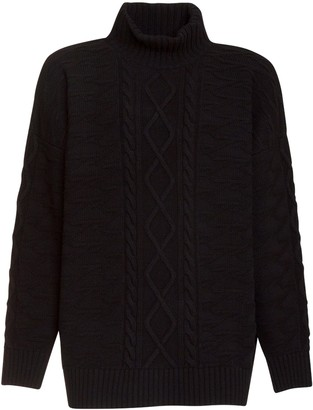 Represent Clo. Black Sweater With High Collar