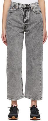 Levi's Levis Black Ribcage Straight Ankle Jeans