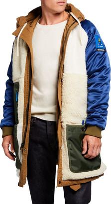 Scotch & Soda Men's Reversible Long Hooded Parka Jacket