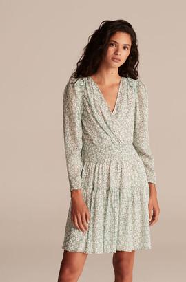 Rebecca Taylor Star Fleur Smock Waist Short Dress