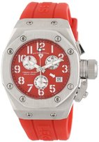 Swiss Legend Women's 10535-05 Trimix Diver Chronograph Red Dial Red Silicone Watch