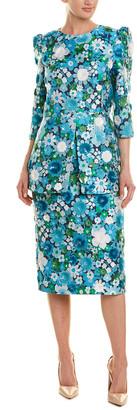 Michael Kors Silk-Blend Sheath Dress