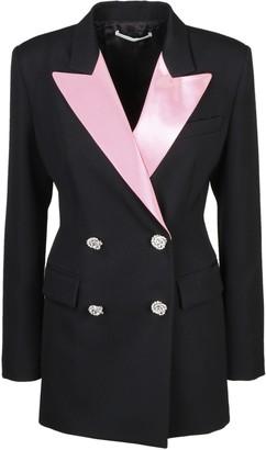 Alessandra Rich Blazer With Pink Duchesse Collar