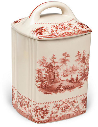 One Kings Lane Brooks Canister - Red/Ivory
