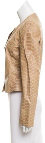 Giorgio Armani Embossed Leather Jacket