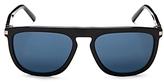 Calvin Klein Flat Top Square Sunglasses, 56mm