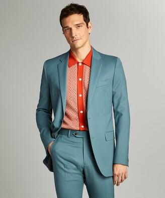 Todd Snyder Black Label Sutton Wool Gabardine Suit Jacket in Aqua