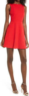 Lulus Just Us Skater Dress