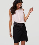 LOFT Bow Shift Skirt