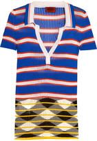 Missoni Ribbed striped crochet-knit shirt
