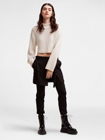 DKNY Cropped Mock Neck Sweater