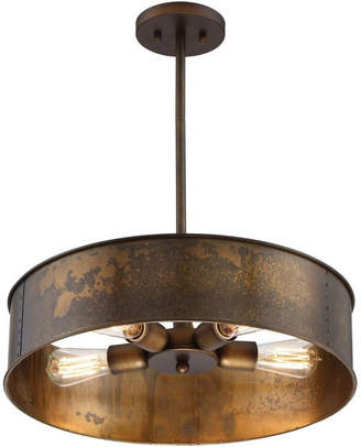 Nuvo Lighting Kettle 4 Light Pendant in Weathered Brass