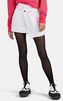 Ksubi Women's Rap Denim Miniskirt - White