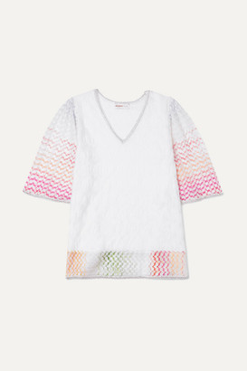 Missoni Kids - Metallic Crochet-knit Kaftan - White