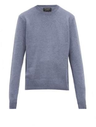 Rag & Bone Haldon Crew Neck Cashmere Sweater - Mens - Light Blue