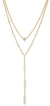 Nadri Remi Cubic Zirconia Convertible Layered Lariat Necklace, 16-18