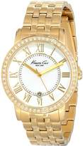 Kenneth Cole New York Women's KC4974 Classic Stone Bezel Gold Bracelet Watch