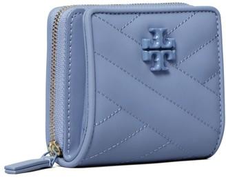 Tory Burch Kira Chevron Matte Bi-Fold Mini Wallet