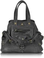 Jerome Dreyfuss Billy M Black Lambskin Handbag