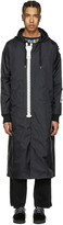 Miharayasuhiro Black Massive Zip Hooded Coat