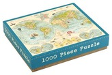 Chronicle Books Map of the World 1000 Piece Puzzle