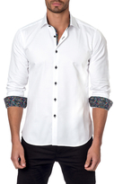 Jared Lang Contrast Collar and Cuff Sportshirt