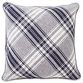 Daniel Cremieux Winslow Diagonal Plaid Linen & Chambray Square Pillow