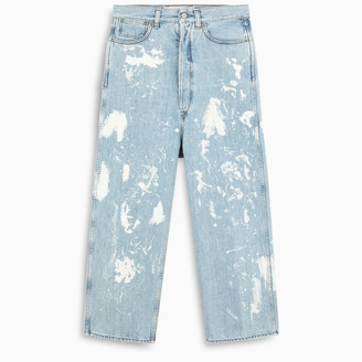 Golden Goose Bleached effect loose fit jeans