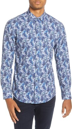 Vince Camuto Slim Fit Floral Button-Up Shirt