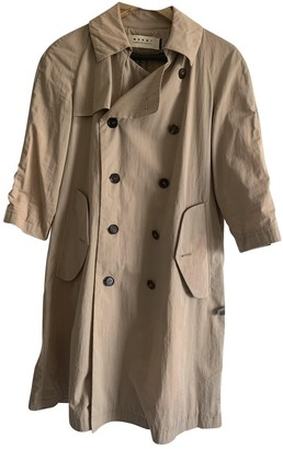 Marni Beige Cotton Trench Coat for Women