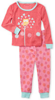 Petit Lem Infant Girls) Two-Piece Top & Pants Pajama Set