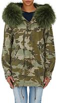 Mr & Mrs Italy Women's Fur-Trimmed Canvas Midi-Parka