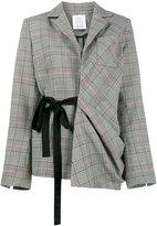 Rosie Assoulin asymmetric check tie jacket