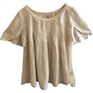 IRO Beige Silk Top for Women
