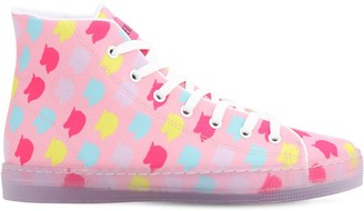 10mm Unicorn Print Cotton Hi Top Sneaker