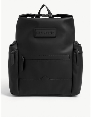 Hunter Top Clip rubberised leather backpack