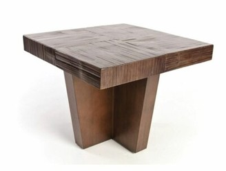 ACCENTS BY DESIGN Solid Wood Block End Table