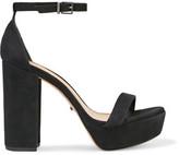 Schutz Riggs Suede Platform Sandals