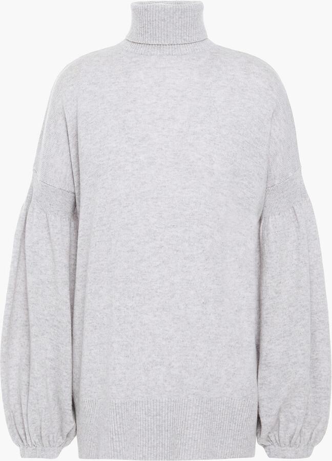 Zimmermann Melange Merino Wool And Cashmere-blend Turtleneck Sweater