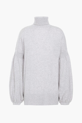 Zimmermann Gathered Merino Wool And Cashmere-blend Turtleneck Sweater