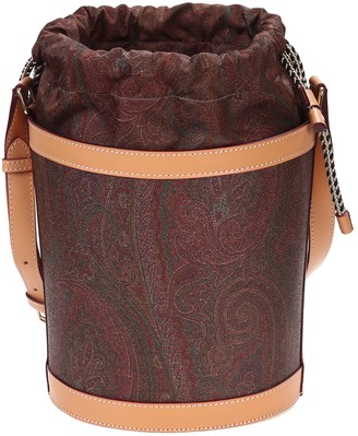Etro leather bucket bag