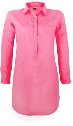 MC2 Saint Barth Fucsia Linen Shirt Dress