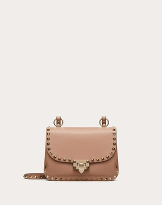 Valentino Garavani Small Rockstud Smooth Calfskin Crossbody Bag Women Skin Color Calfskin 100% OneSize