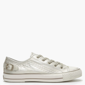 Ash Virgo Iron Gold Metallic Lace Up Trainers