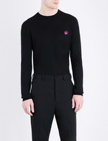McQ by Alexander McQueen Swallow-logo knitted wool jumper